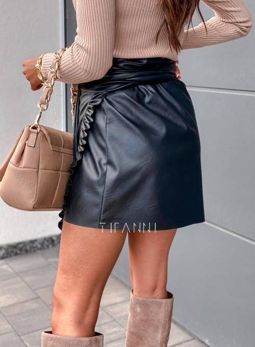 Skajkowa wiązana spódnica Clivi czarna 2