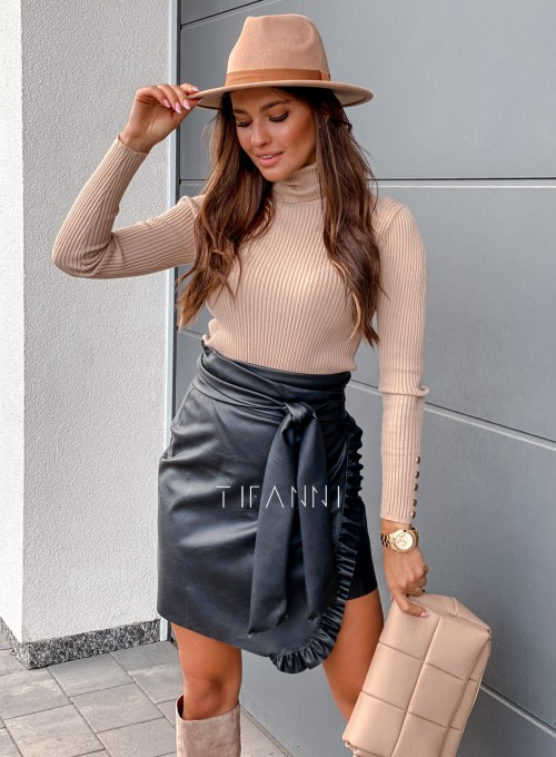 Skajkowa wiązana spódnica Clivi czarna 1