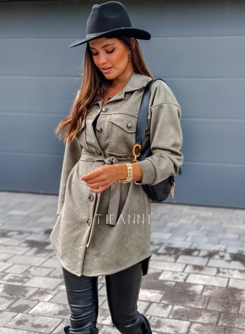 Płaszczyk koszulowy Averil khaki 3