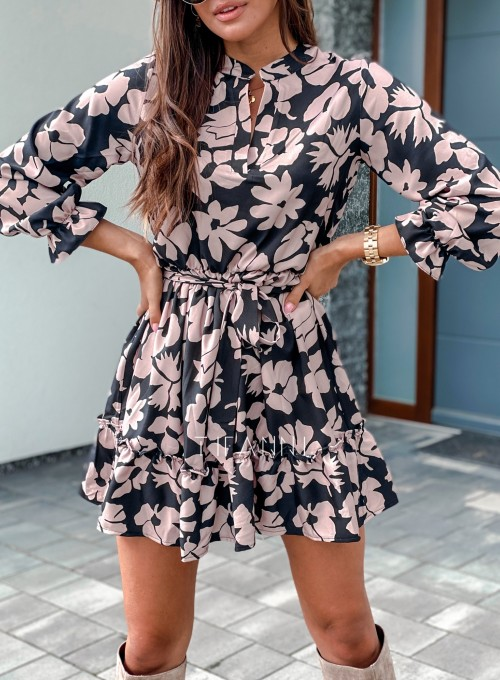 Sukienka Malvia czarno beżowa 1