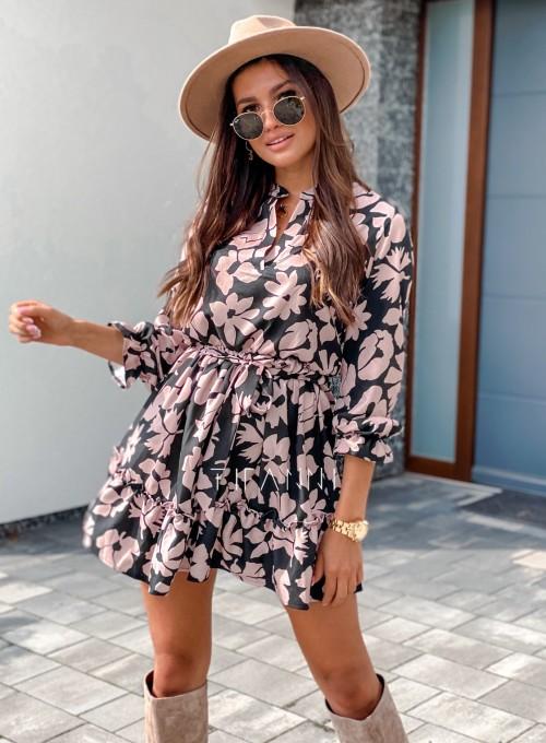 Sukienka Malvia czarno beżowa 4