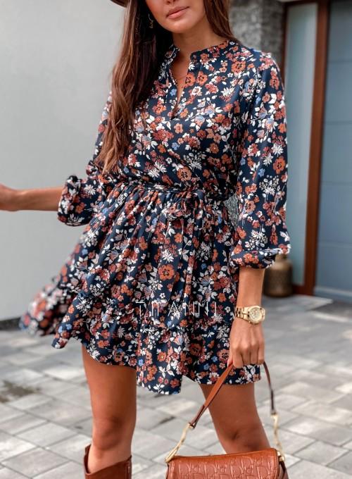 Sukienka w kwiatki Malvia III 1