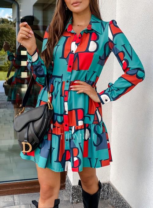Sukienka Mula literki 1