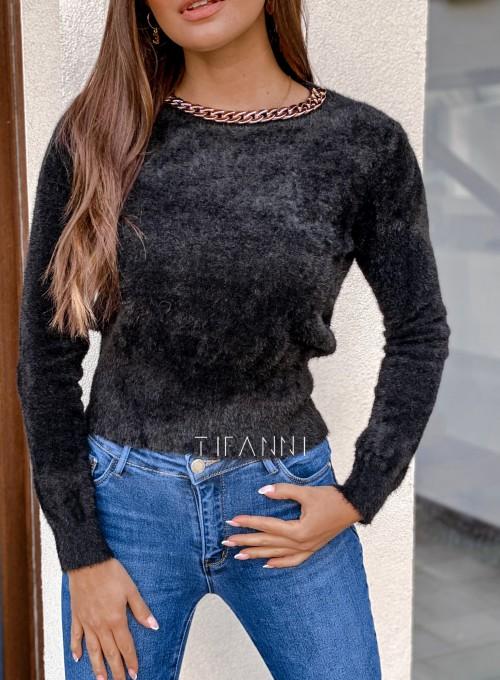 Sweter alpakowy Tifi czarny 1