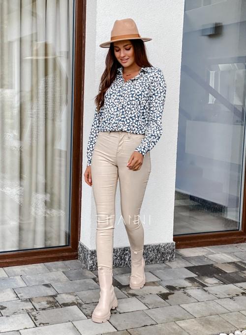 Spodnie woskobane Elin light beige 2