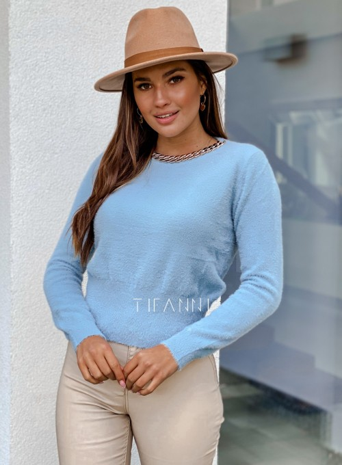 Sweter alpakowy Tifi blue 4