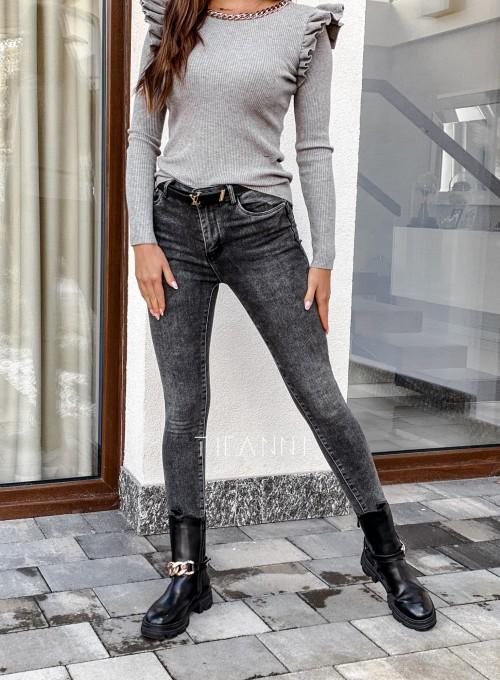 Spodnie jeansowe Rufi czarne 2