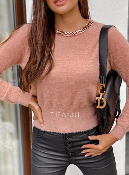 Sweter alpakowy Tifi pudrowy 1