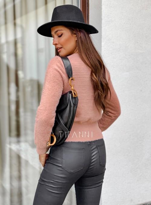 Sweter alpakowy Tifi pudrowy 3