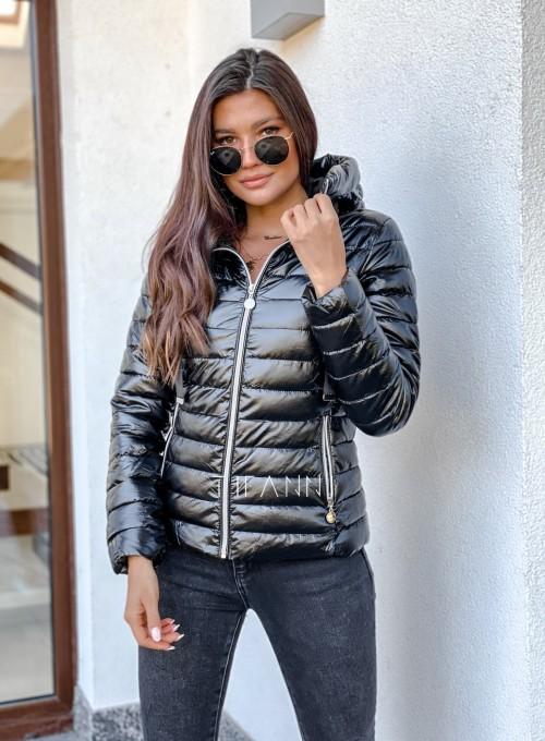 Pikowana kurtka Parma czarna 2