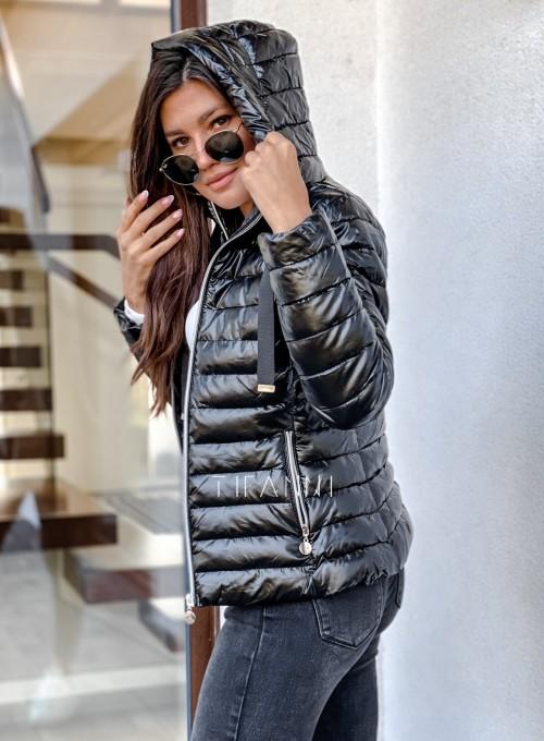 Pikowana kurtka Parma czarna 3