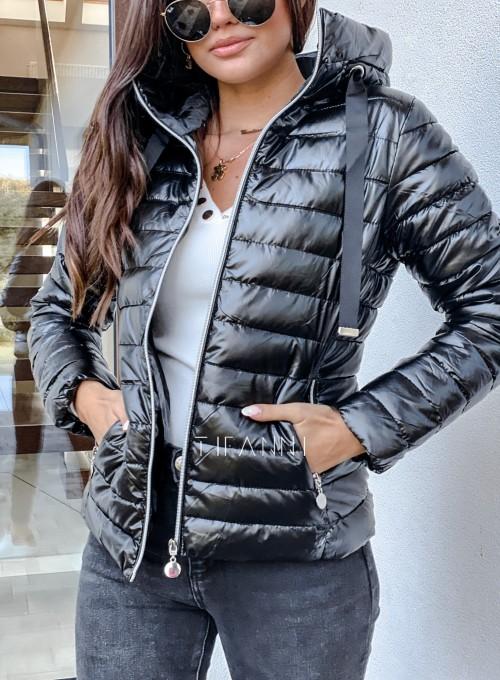 Pikowana kurtka Parma czarna 1