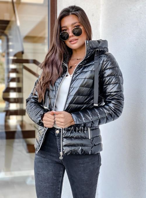 Pikowana kurtka Parma czarna 4