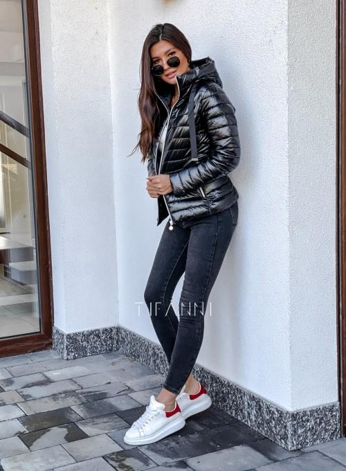 Pikowana kurtka Parma czarna 5