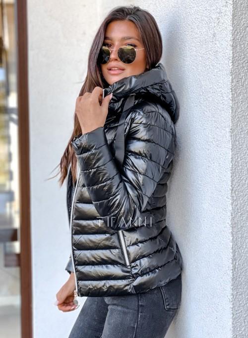 Pikowana kurtka Parma czarna 6