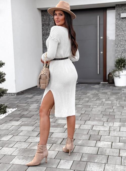 Sukienka swetrowa Flori cream 2