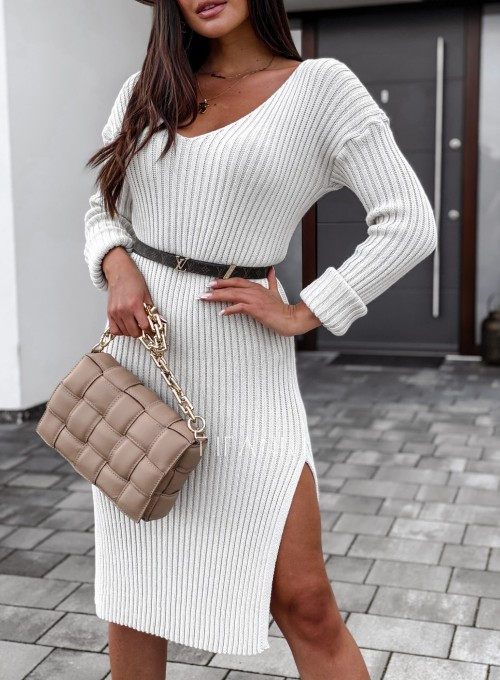 Sukienka swetrowa Flori cream 3
