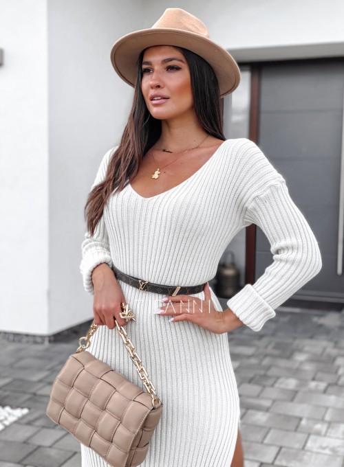 Sukienka swetrowa Flori cream 4