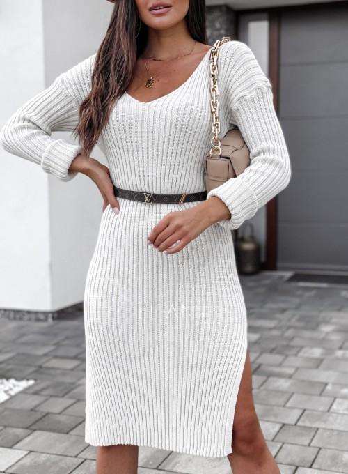 Sukienka swetrowa Flori cream 1
