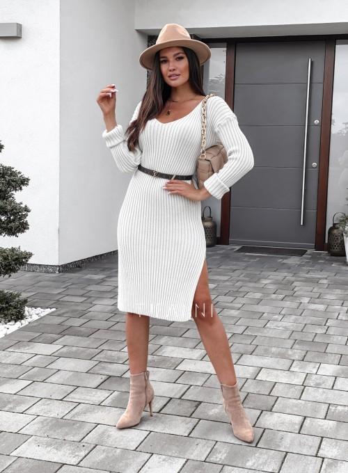 Sukienka swetrowa Flori cream 5