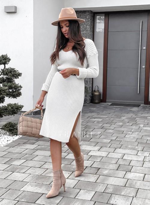 Sukienka swetrowa Flori cream 6