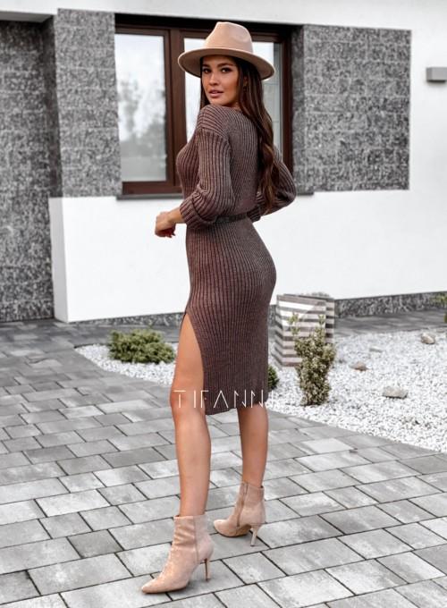 Sukienka swetrowa Flori choco 2