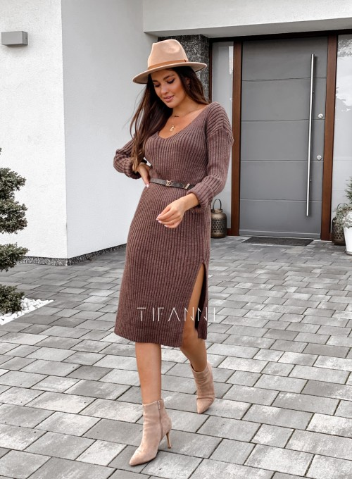 Sukienka swetrowa Flori choco 5