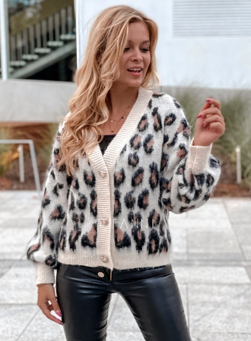 Sweter rozpinany Flow panther