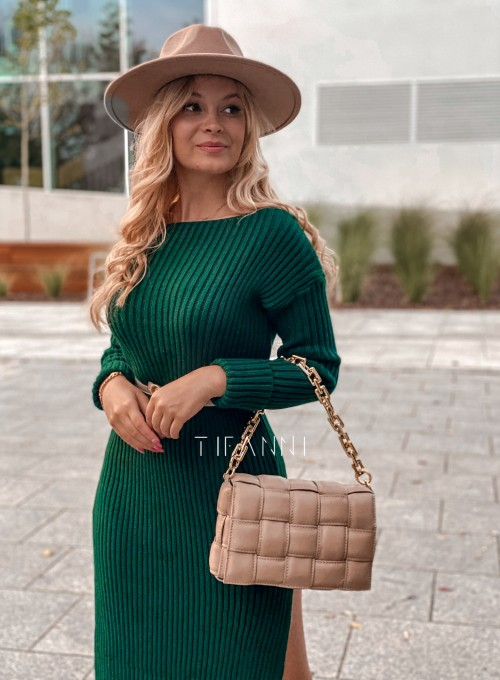Sukienka swetrowa Flori łódka butelkowa 1
