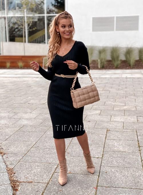 Sukienka swetrowa Focus czarna
