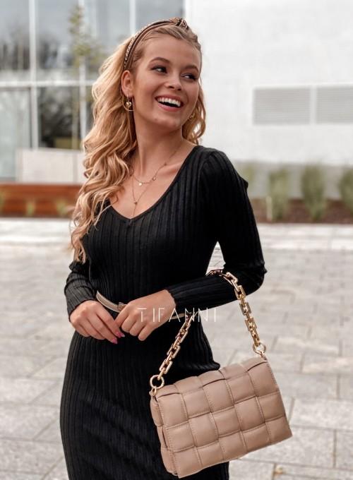 Sukienka swetrowa Focus czarna 1