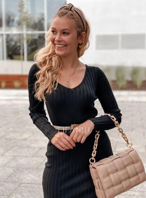 Sukienka swetrowa Focus czarna 3