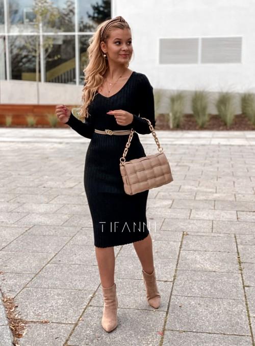 Sukienka swetrowa Focus czarna 4