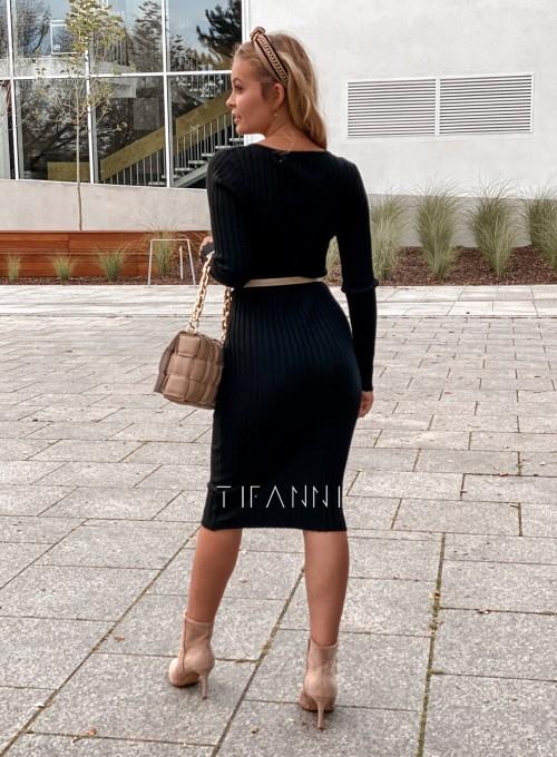 Sukienka swetrowa Focus czarna 5