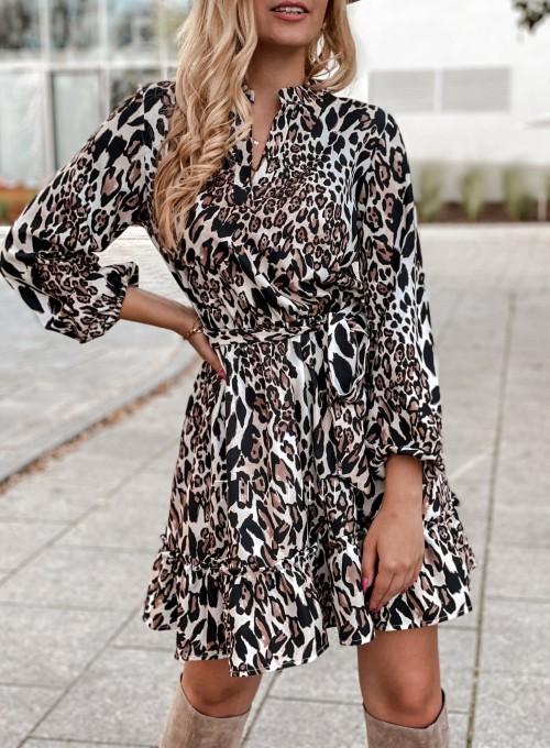 Sukienka w kwiatki Malvia panther 3