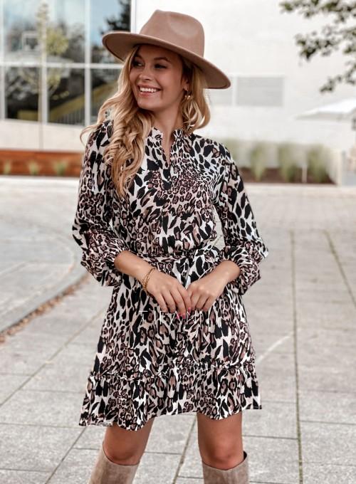 Sukienka w kwiatki Malvia panther 4