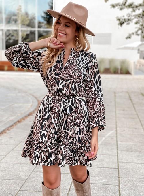 Sukienka w kwiatki Malvia panther 5