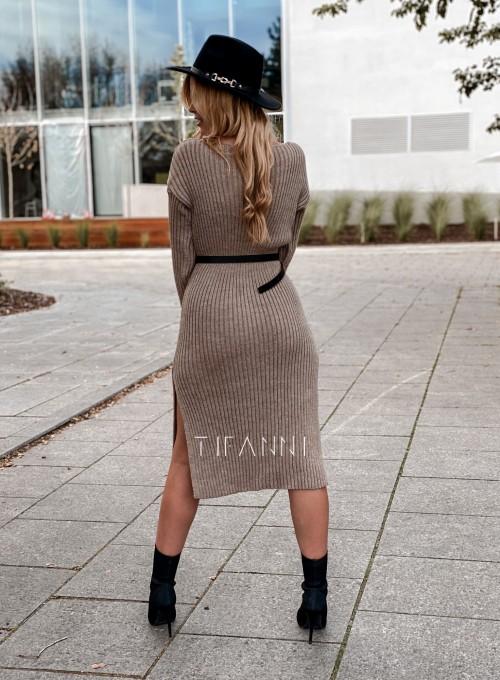 Sukienka swetrowa Flori beżowa 2