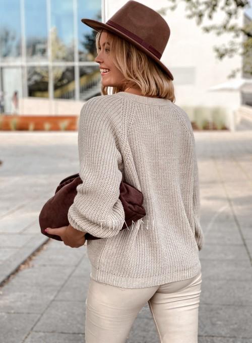 Sweter rozpinany Jessi beżowy 3