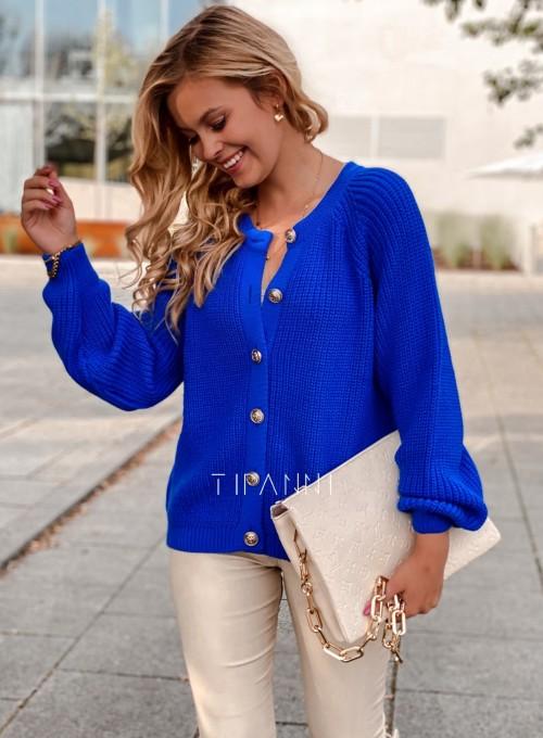 Sweter rozpinany Jessi kobaltowy