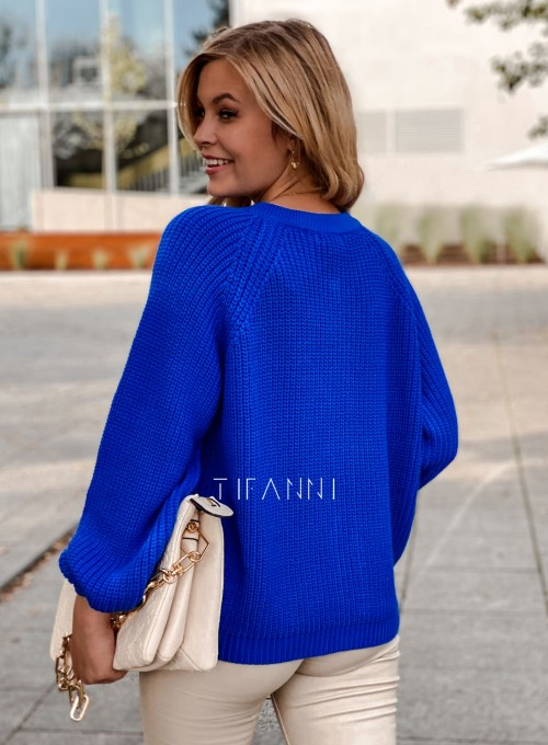 Sweter rozpinany Jessi kobaltowy 5
