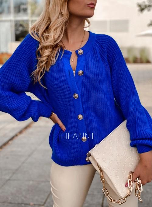 Sweter rozpinany Jessi kobaltowy 1
