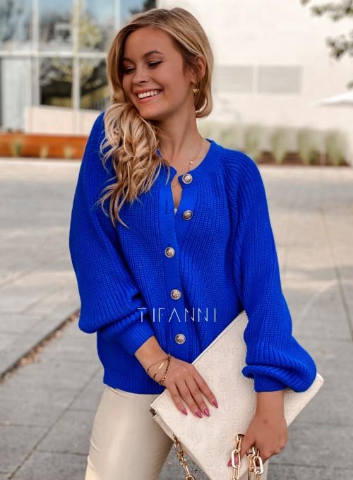 Sweter rozpinany Jessi kobaltowy 6