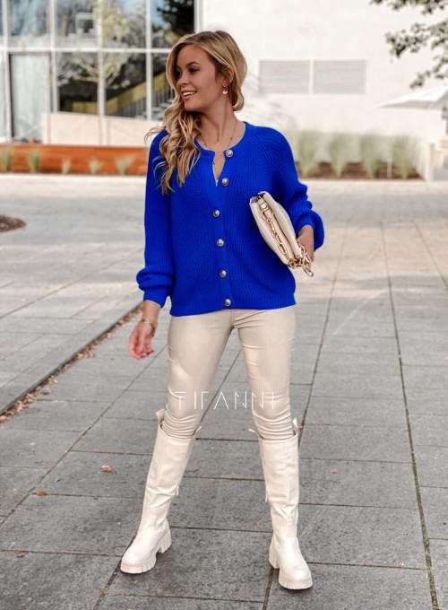 Sweter rozpinany Jessi kobaltowy 7