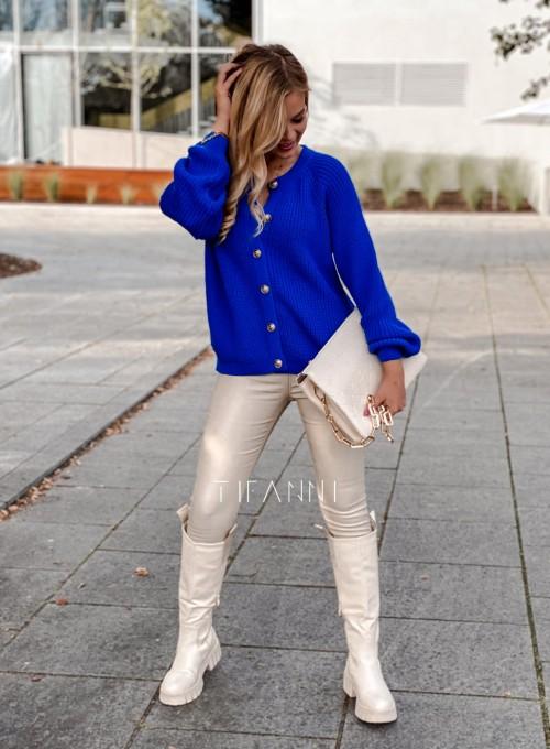Sweter rozpinany Jessi kobaltowy 4