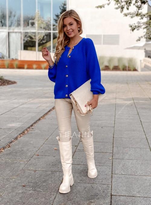 Sweter rozpinany Jessi kobaltowy 2