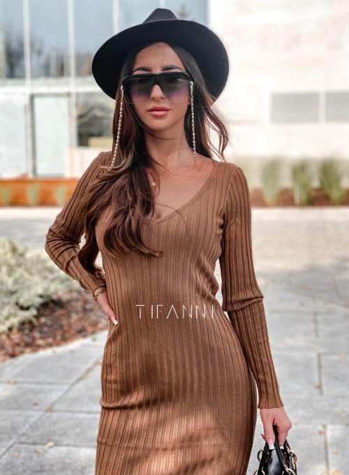 Sukienka swetrowa Focus karmelowa 1