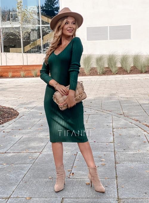 Sukienka swetrowa Focus butelkowa zieleń