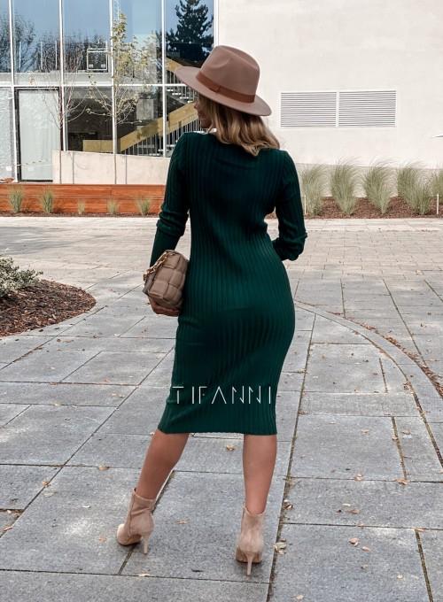 Sukienka swetrowa Focus butelkowa zieleń 2