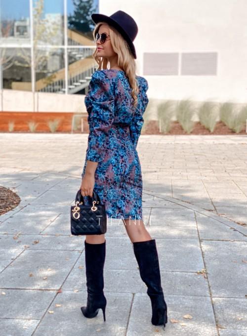 Sukienka z kopertowym dekoltem Rocca blue 2